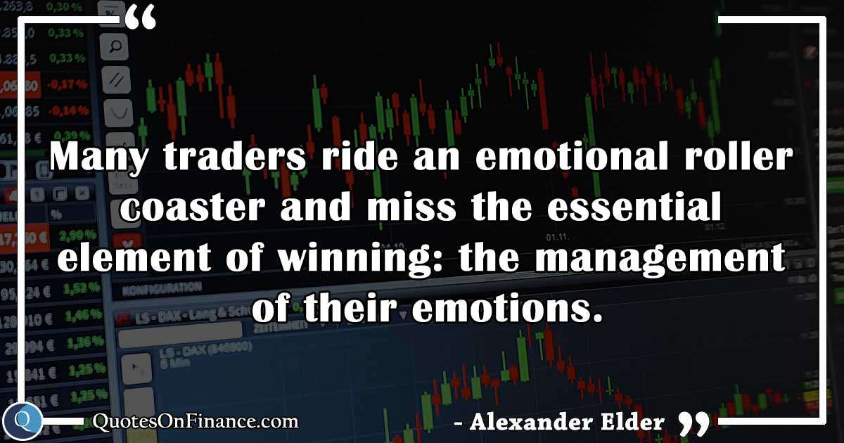 Trading is managing emotions