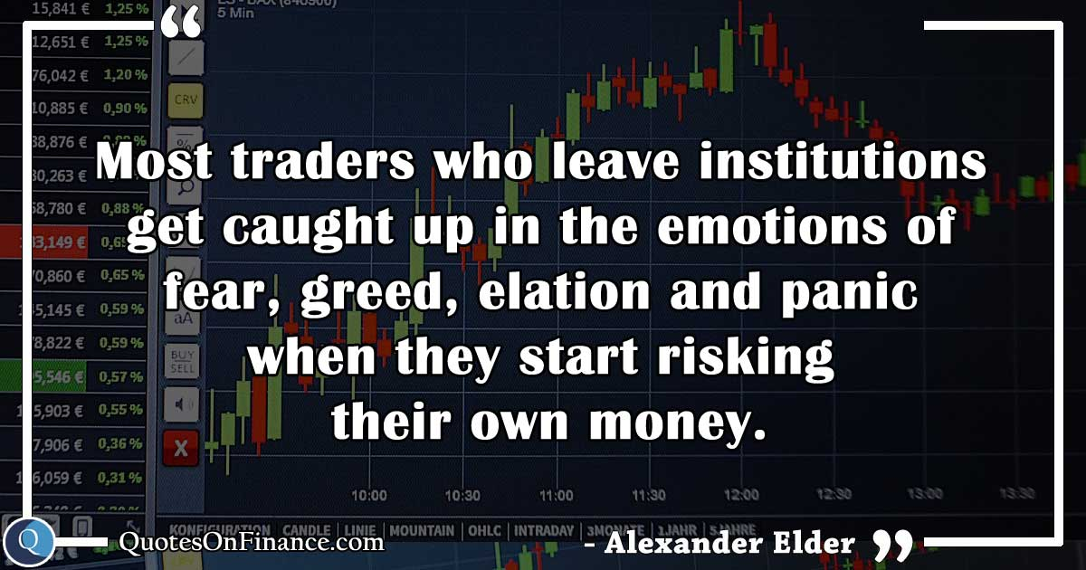 The emotions of fear, greed and panic