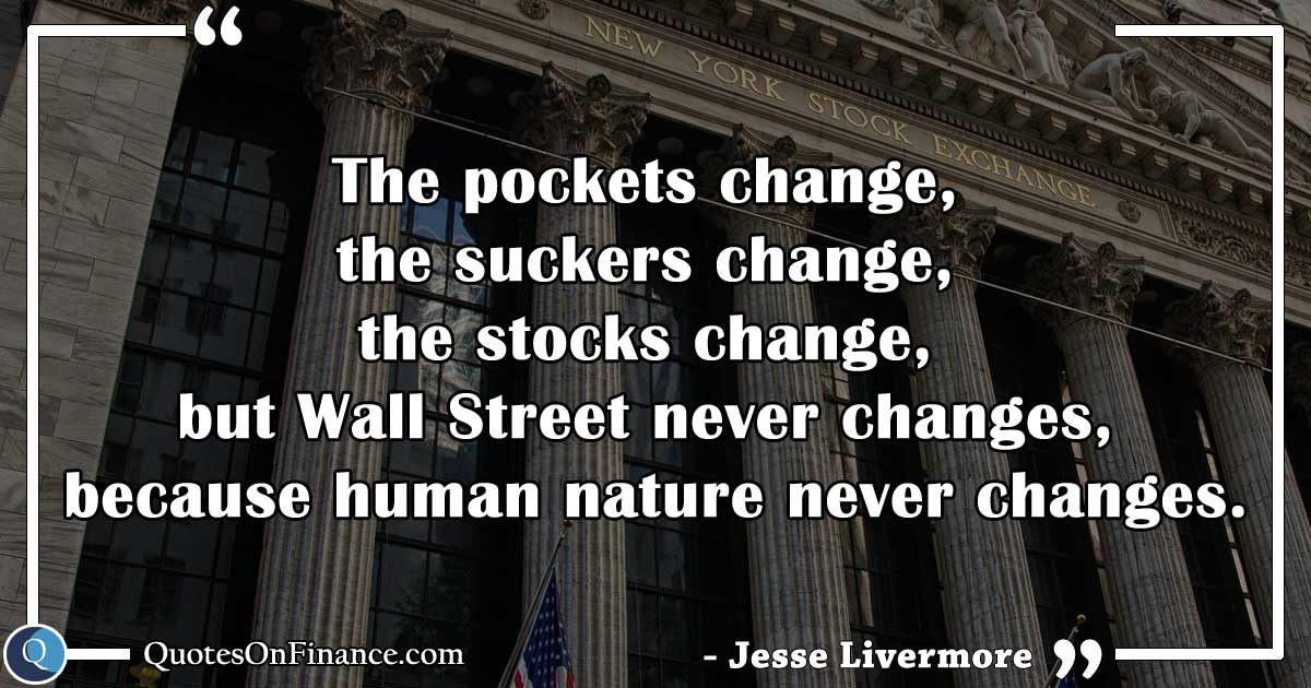 Wall Street never changes