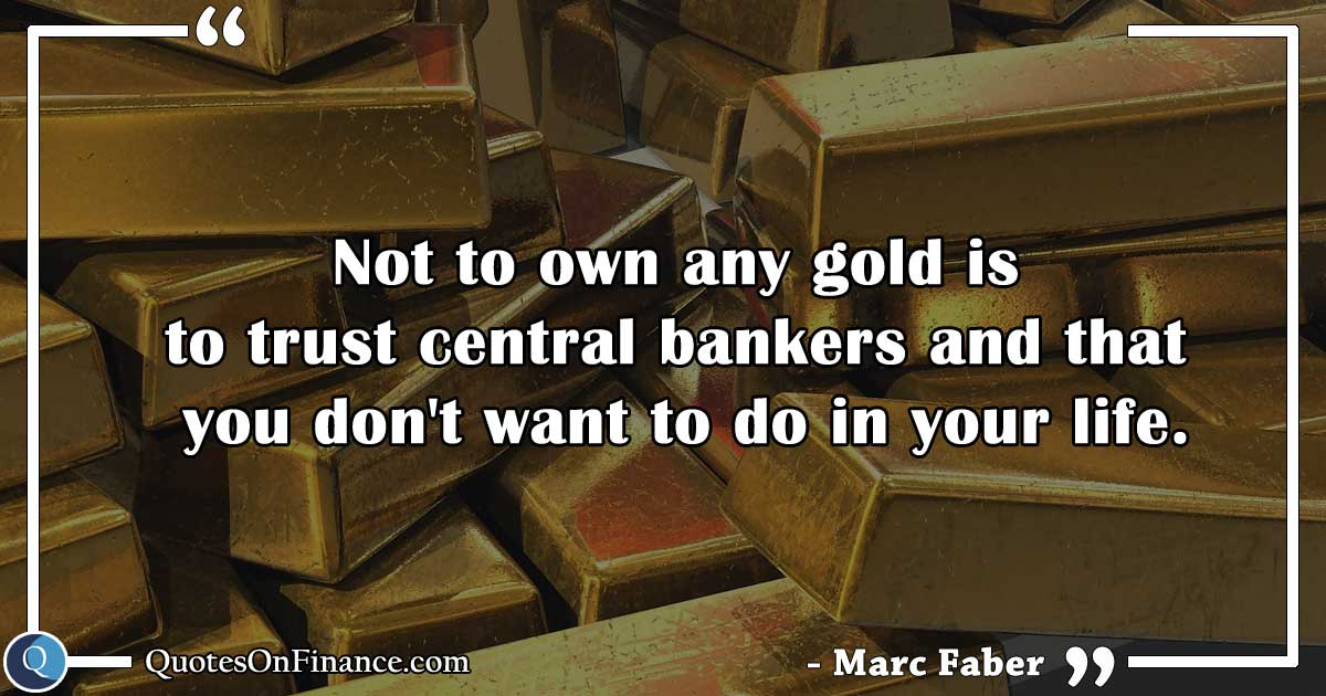 Don't trust central bankers