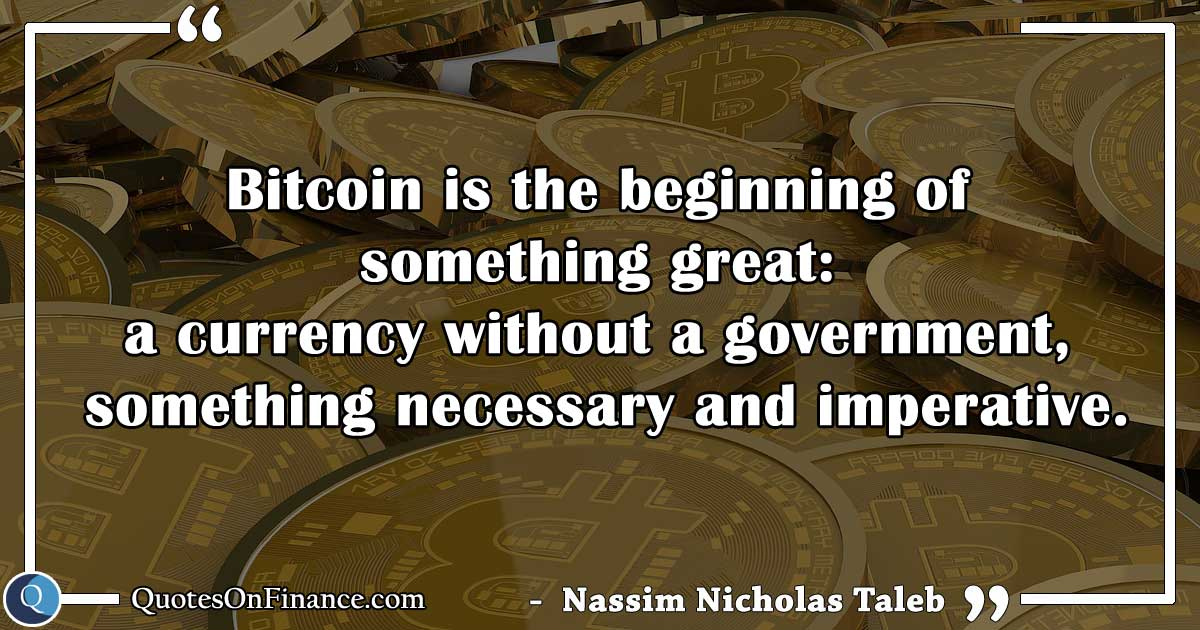 Bitcoin is a currency without a government