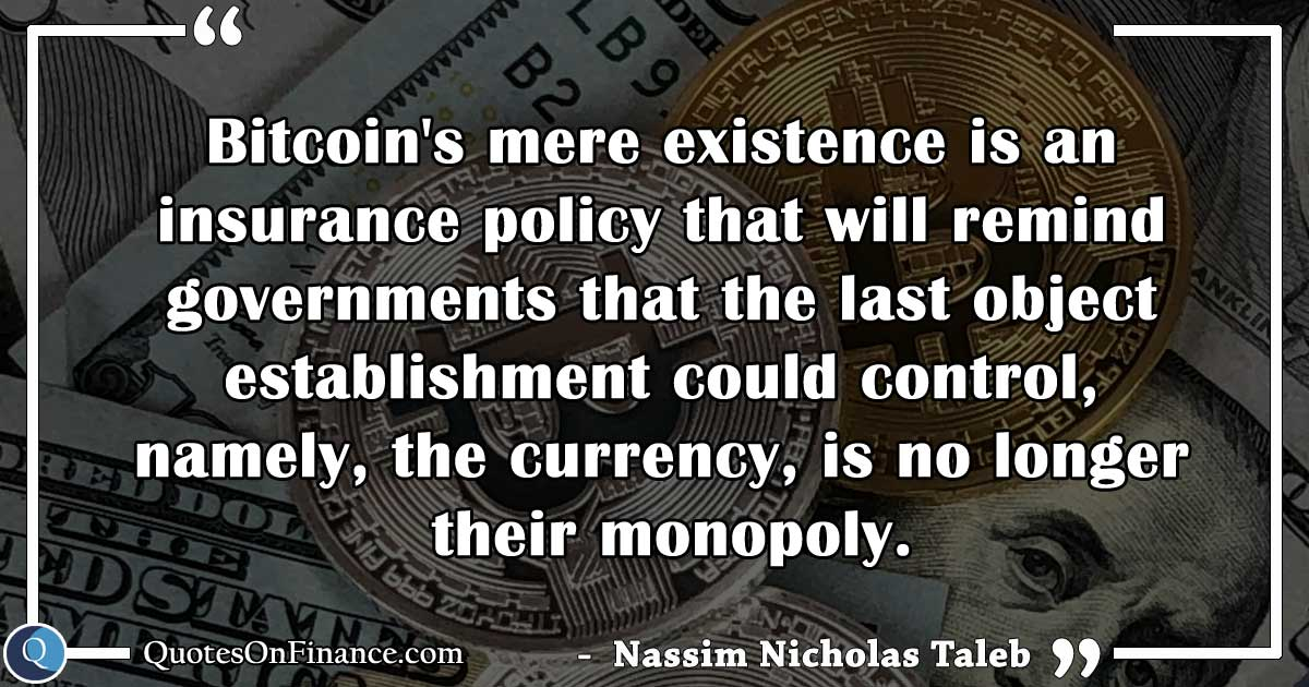 Bitcoin is an insurance policy
