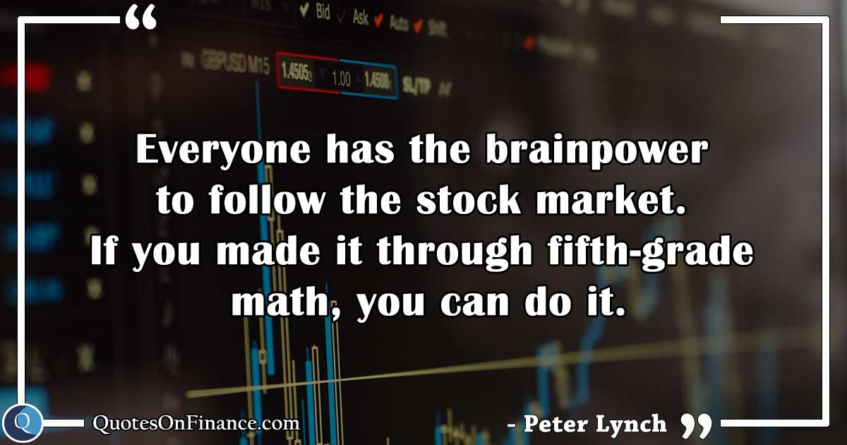 Everyone can follow the stock market