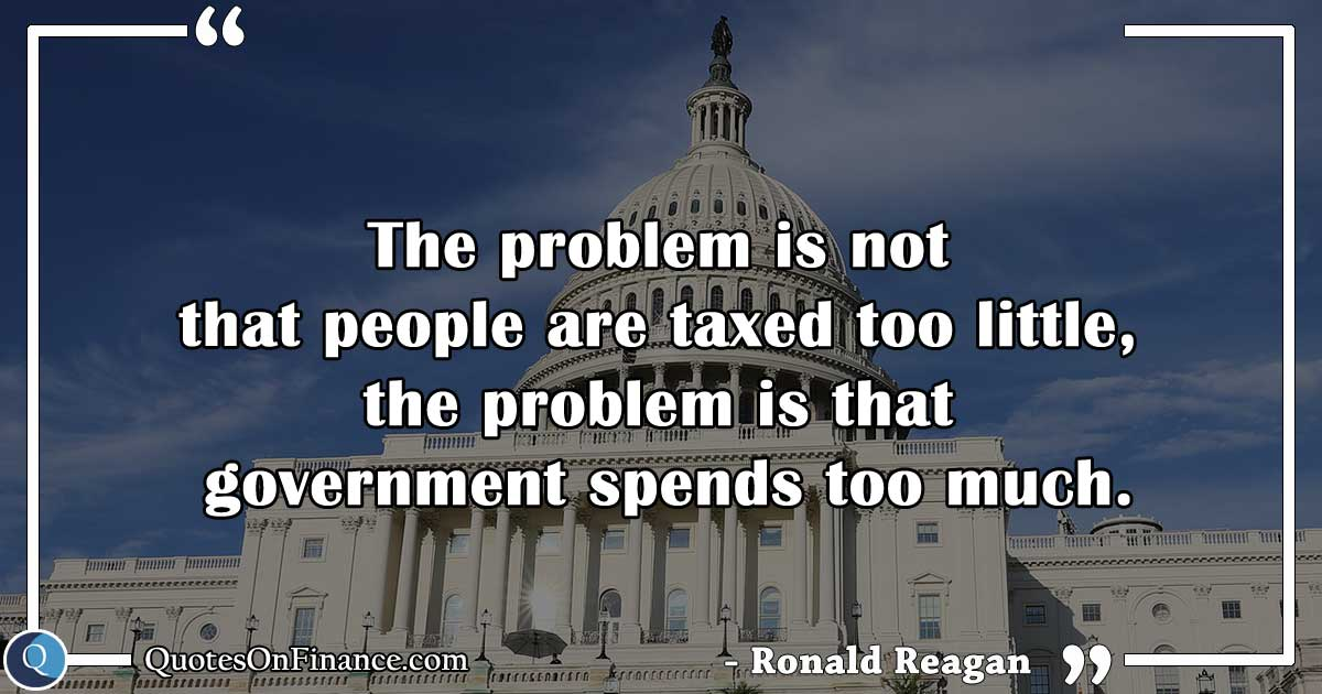 Government spends too much